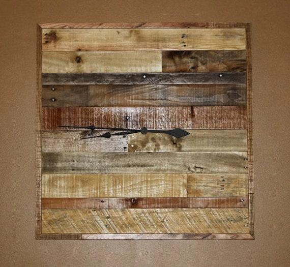 Reclaimed Pallet Wood Wall Clock HUGE 30 x 30 Handmade by ...