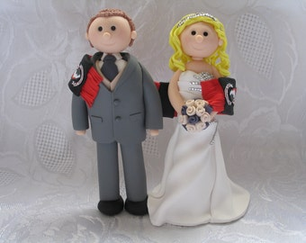 Fimo Wedding Cake Toppers Bride and Groom Completely Personalised