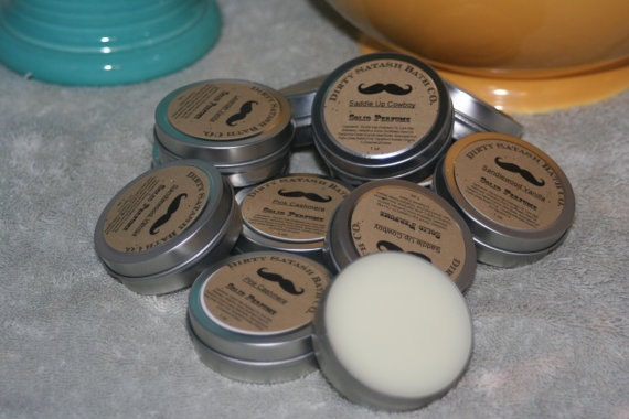 Rosemary Mint essential oil 1 oz tin Solid Perfume tin