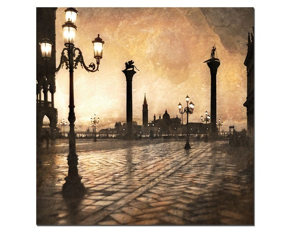 St Marks Square, Venice Photography, Golden Sunset in Venice, Piazza San Marco