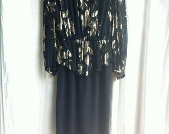 Vintage Patra dress with gold flower details