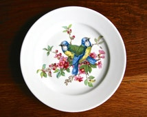 Vintage Bavaria Schumann Golden Crown E&R plate with pair of blue birds