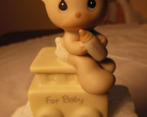 Vintage-1985--Precious Moments Caboose-Part Of The Birthday Train-For Baby