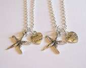 2 Starfish Heart Best Friend Necklaces BFF SISTERS COUPLES