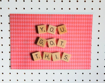 Scrabble Inspired Motivational Print, You Got This Print