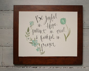 Romans 12:12 Print