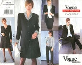 Vogue 1825 Tamotsu Careerwear Jacket Dress Top Skirt & Pants Size 6-8-10 Bust 30.5-32.5 1990s Style Pattern Uncut