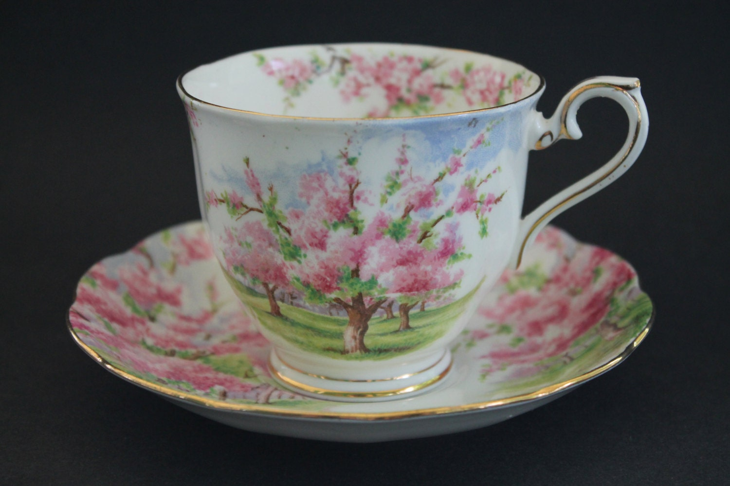 royal albert bone china teacup and saucer set blossom. Black Bedroom Furniture Sets. Home Design Ideas
