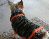Pet hunting sweater: Pet turtleneck vest, camouflage pet vest, dog hunting vest, cat hunting vest, Pet sweater, dog sweater, cat vest.