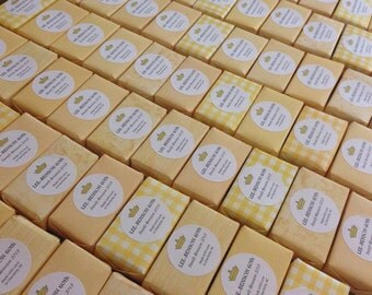 20 Wedding Favors, Event Favors, Shower Gifts, Handmade Custom Soap - All Natural, Customized Guest Soaps - Holiday Gifts, Custom Corporate