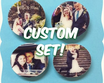 Your Photos! - Set of 4 Magnets