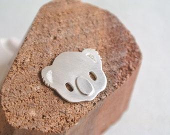 Koala Charm Necklace, Sterling silver