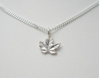 Canadian Penny Maple Leaf Necklace - Sterling Silver