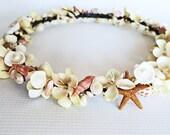Mermaids Treasure Crown-Beach Wedding Crown-Crown of Sea Shells-sea Shell Bridal Crown-Mermaid Crown