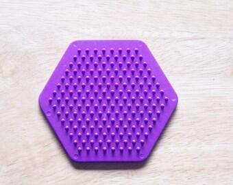 Perler Bead Purple Hexagon Pegboard, Ironing Paper, Instructions, Craft Supply, Church Crafts