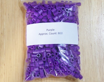 Perler Beads, 800 Purple Perler Beads, Ironing Paper, Instructions, Perler Beads 4 Sale, Bead Art Supply, Jewelry Supply
