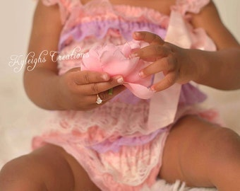 8-12 month ROSE GOLD baby ring, diamond baby ring, rose gold baby jewelry