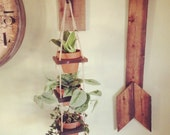 Three tier layered hanging planter indoor /outdoor