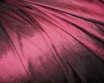 "Aubergine dupioni silk - 54"" wide"