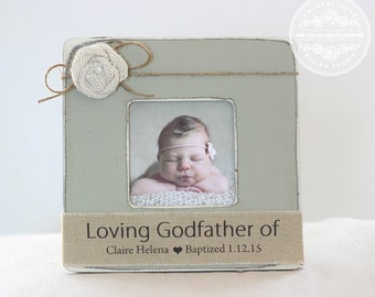 Godmother Godfather GIFT Personalized Picture Frame Custom GIFT Baptism Gift for Godparents