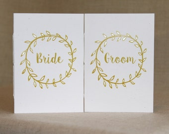 Wedding Vow Books  - Set of 2 - Rustic Elegance Wedding Vow Books
