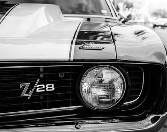 Camaro Z28, Photography, fine art Photography, Black and white, wall art, home décor, car photography, vintage, truck, auto, gift, print