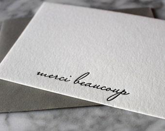 Letterpress Merci Beaucoup Cards