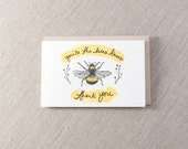 Bee's Knees Thank you Letterpress Card