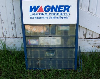 Wagner Automotive Lighting Products Display Case Vintage Display Case