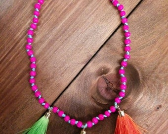 Kids tassel necklace jewelry