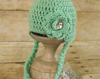 Sweet Crochet Earflap Hat