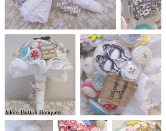 NEW EXCLUSIVE PRICE | Button Bouquet | Alice in Wonderland Inspired Bouquet | Alice in Wonderland Wedding