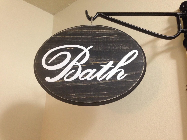Adorable bathroom sign 7x9 black for 7x9 bathroom designs