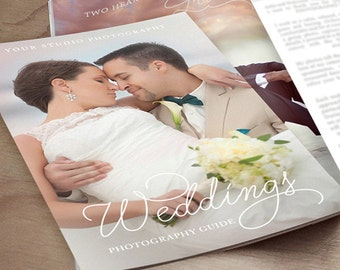 Wedding Photography Magazine Template - Client Welcome Guide - INSTANT DOWNLOAD ID241