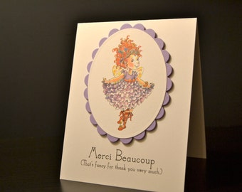 Fancy Nancy Birthday Thank You Cards (set of 8); Merci Cards. Fancy Nancy Merci Beaucoup