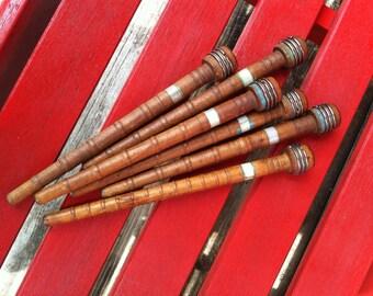Antique Wood Spools / Bobbins - Set of 6