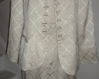 christian dior suit jacket and skirt  mix and match these pieces size 12  diamond pattern
