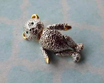 vintage brooch pin jewelry costume animal bear