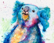 Koala Spirit Power animal art print by Ellen Brenneman