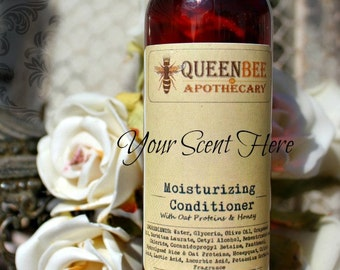 ALMOND CREME & MINT-  Moisturizing Conditioner 4 Oz- with Oat Proteins, Honeyquat
