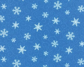 Ho! Ho! Ho! Swirling Flakes, Sky Blue, by Deb Strain for Moda 19704 13