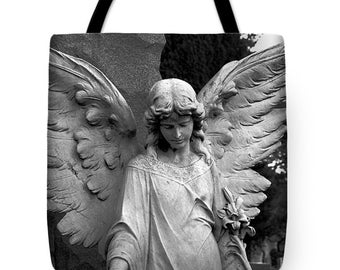 Guardian Angel,Tote Bag,Beach Bag,Carryall Bag,Shoulder Bag,Female Angel,Angel Bag,Catholic Tote Bag,Christian Tote Bag
