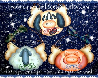 CC111 - Farm Angels Ornaments - Painting E Pattern by Cyndi Combs