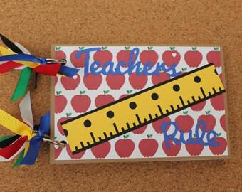 ASBeautiful - TEACHERS RULE - Teacher Gift - End of the year Teacher Gift - Teacher Appreciation