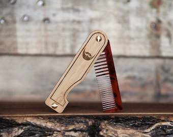 wood beard combs straight razors gifts for men by minifab. Black Bedroom Furniture Sets. Home Design Ideas