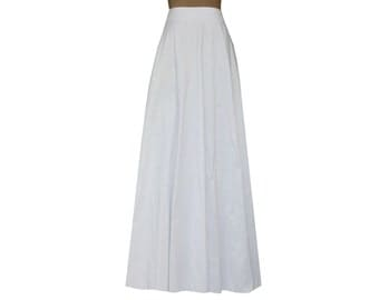 Items similar to Navy Blue or red maxi long skirt formal evening ...