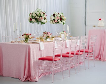 Silver Sequin Tablecloth Custom Sizes By Candycrushevents