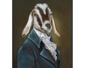 Billy Goat Prints, Mr. Beekman, Farm Animals, Barnyard, Goat in Clothes