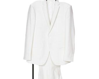 2 Piece Winter White Boys Suit - Size R 20/20