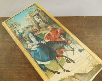 Vintage picture Old wall hanging Old religious picture Victorian style picture